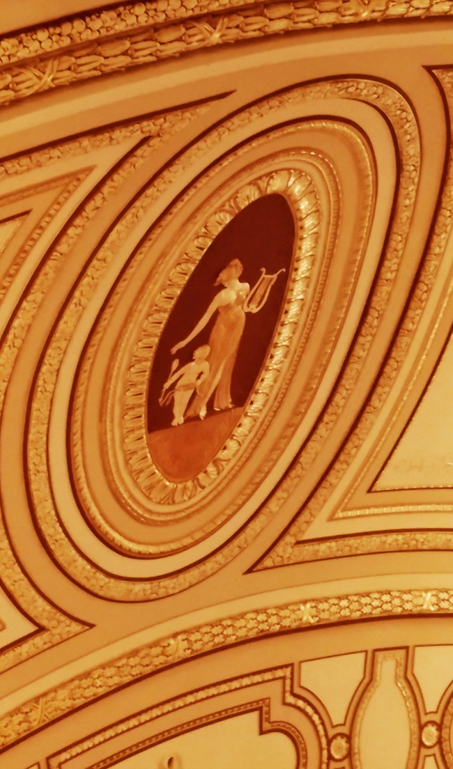 beautiful ceiling at a theater in playhouse square